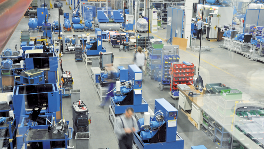 Produktion von Kompressoren unter Einhaltung von Corona-Maßnahmen